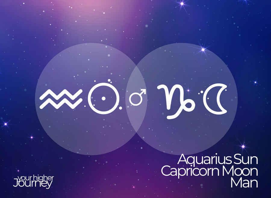 Aquarius Sun Capricorn Moon Man