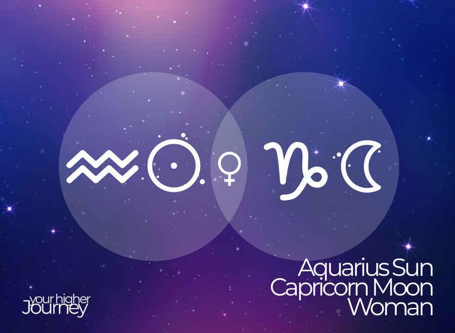 Aquarius Sun Capricorn Moon Woman