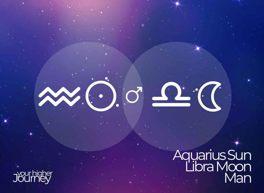 Aquarius Sun Libra Moon Man