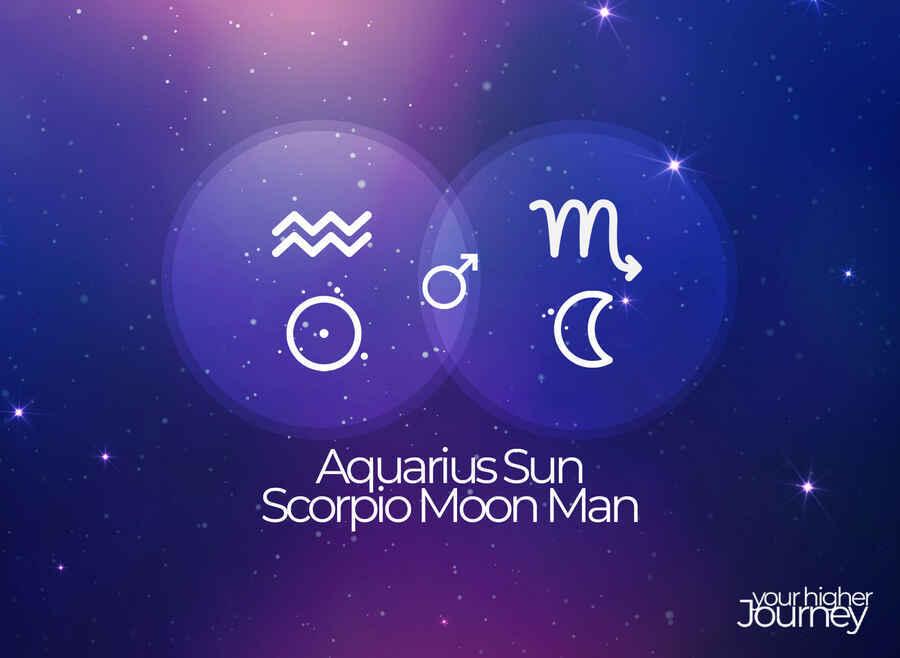 Aquarius Sun Scorpio Moon Man